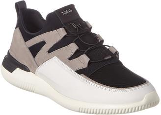 Tod's Active Sport Light Suede & Neoprene Sneaker