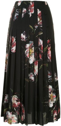 Altuzarra Bennie floral print pleated skirt