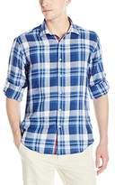 Bugatchi Men's Domani Long Sleeve Shaped Button Down Shirt
