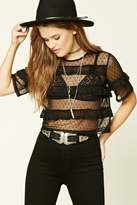 Forever 21 FOREVER 21+ Tiered Swiss Dot Mesh Top