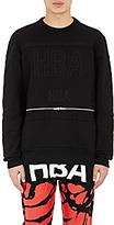 Hood by Air MEN'S BELT JOCKEY SWEATSHIRT-BLACK SIZE XL