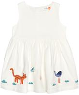 John Lewis Stork Applique Dress, Cream
