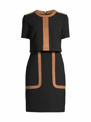 Toccin Two-Tone Faux Suede Dress