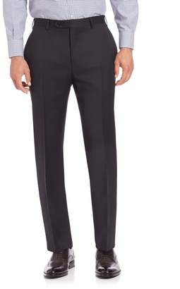 Canali Flat-Front Wool Trousers