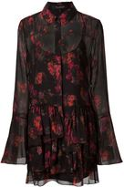 Thakoon printed ruffled shirt dress