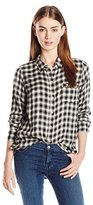 Lucky Brand Women's Boyfriend Flannel Shirt
