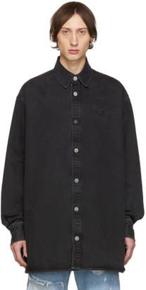 Raf Simons Black Denim Big Fit Shirt