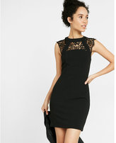 Express petite sleeveless lace yoke dress