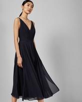 Ted Baker V Neck Georgette Midi Dress