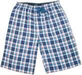 Hanes Men's Cotton Madras Drawstring Sleep Pajama Shorts, 2XL