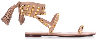 Valentino Rockstud lace-up sandals