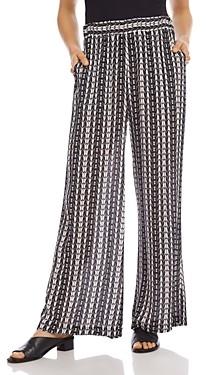 Karen Kane Printed Wide-Leg Pants