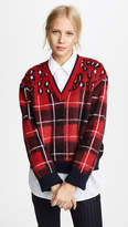 Tommy Hilfiger Tartan V Neck Sweater