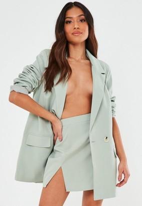 Missguided Tall Mint Co Ord Double Split Mini Skirt