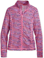 Ideology Space-Dyed Front-Zip Jacket, Big Girls (7-16), Only at Macy's