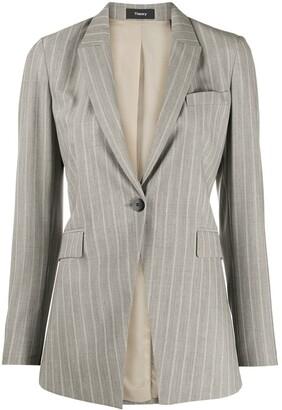 Theory Wool Blend Striped Blazer