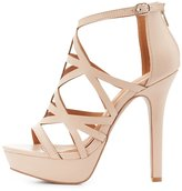Charlotte Russe Caged Platform Dress Sandals