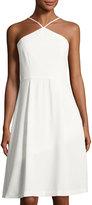 Cynthia Steffe Merideth Halter-Neck A-line Dress, Ivory