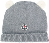 Moncler teddy ears knitted hat - kids - Virgin Wool - 40 cm