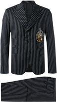 Dolce & Gabbana pinstripe musical patch suit - men - Silk/Cotton/Polyester/glass - 48