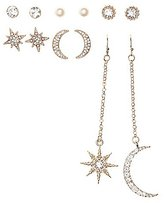 Charlotte Russe Celestial Drop & Stud Earrings - 6 Pack