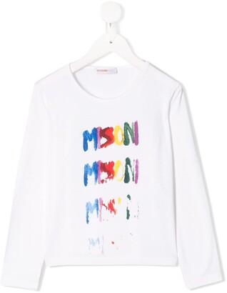 Missoni Kids printed cotton T-shirt