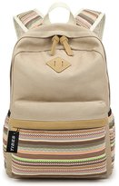 Tibes Retro Backpack Striped Fashion Canvas Backpack
