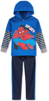 Nannette 2-Pc. Layered-Look Spider-Man Hoodie & Pants Set, Little Boys (2-7)
