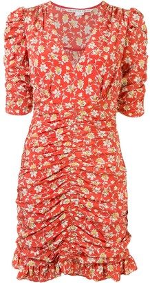 Veronica Beard Floral Wrap Mini Dress