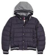 Moncler Toddler Boy's 'Auberie' Hooded Down Varsity Jacket