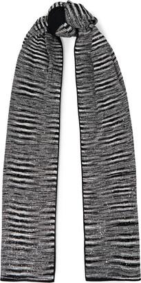 Missoni Sequin-embellished Crochet-knit Scarf
