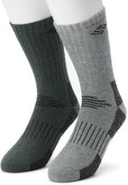 Columbia Men's 2-pack Crossover Wool-Blend Cushioned Crew Socks
