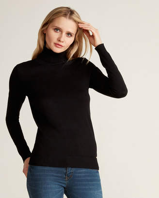 Calvin Klein Black Long Sleeve Solid Turtleneck Sweater