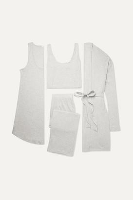 Skin Ribbed Jersey Gift Set - Light gray