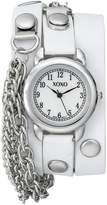XOXO Women's XO5622 Band with Chains Accent Double Wrap Watch