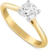 Aurora 18ct gold 0.70 carat diamond solitaire ring