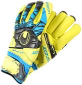 Uhlsport ELIMINATOR ABSOLUTGRIP FINGERSURROUND Goalkeeping gloves lite fluo gelb/schwarz/hydro blau