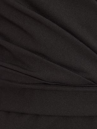 Quiz Scuba Crepe Wrap Front Strappy Midi Dress - Black