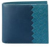 Bottega Veneta Intrecciato & Smooth Leather Bi-Color Wallet