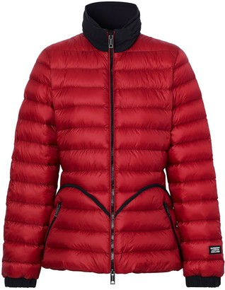 Burberry Packaway Hood Peplum Puffer Jacket
