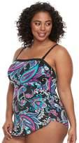 Apt. 9 Plus Size Paisley One-Piece Swimsuit