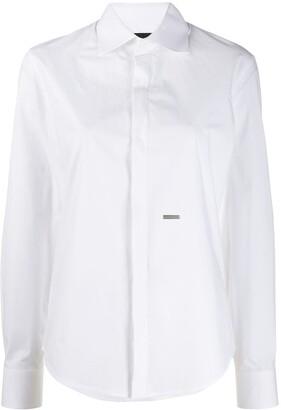 DSQUARED2 logo plaque long-sleeve shirt
