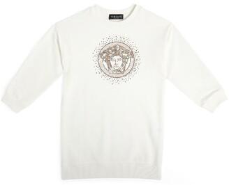Versace Kids Diamante Medusa Sweatshirt Dress (4-14 Years)
