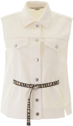 Stella McCartney Sleeveless Belted Denim Jacket