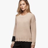 James Perse Stone Wash Wool Chunky Sweater