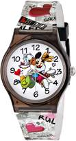 Disney Kids' W001252 Tween Minnie and Daisy Plastic Watch, Analog Display, Analog Quartz, Multi-Color Watch