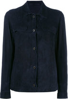 Salvatore Santoro - chest pocket jacket - women - Cotton/Leather - 42