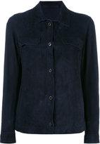 Salvatore Santoro - chest pocket jacket - women - Cotton/Leather - 44