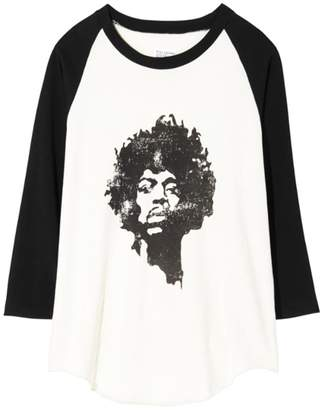Nili Lotan Jimi Hendrix Tee in Dirty White/Washed Black