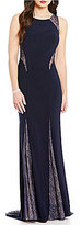 Xscape Evenings Lace Inset Sleeveless Gown